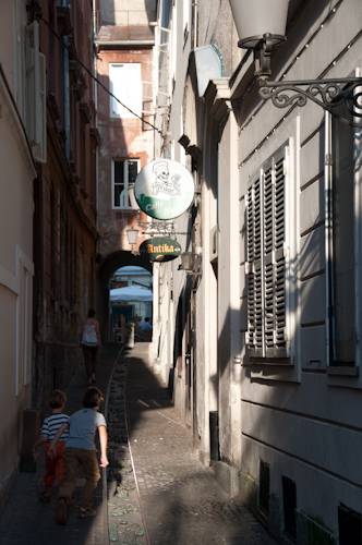 Bild: Altstadtgasse in Ljubljana