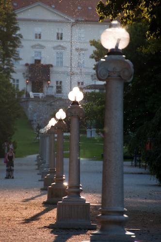 Bild: Schloss Tivoli und Tivoli Park in Ljubljana