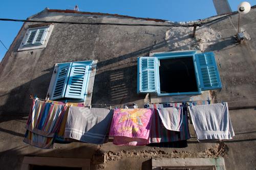 Bild: Piran - Wäsche am Fenster