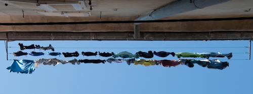 Bild: Wäscheleine in den Gassen von Piran
