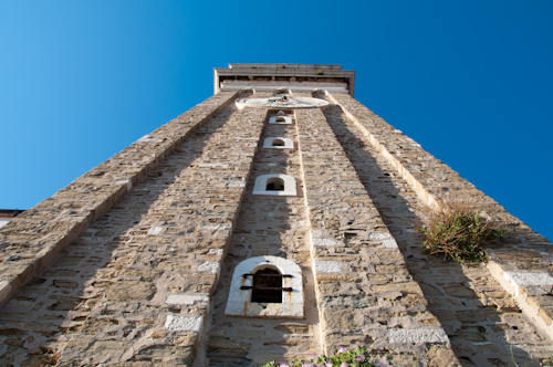 Bild: Turm der St. Georgs Kathedrale in Piran