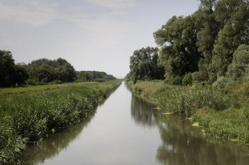 Bild: Der Einserkanal im Seewinkel ist die Grenze zu Ungarn