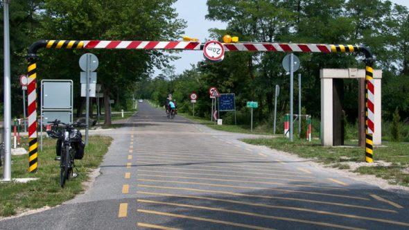 Grenzübergang St. Margarethen zwischen Österreich und Ungarn