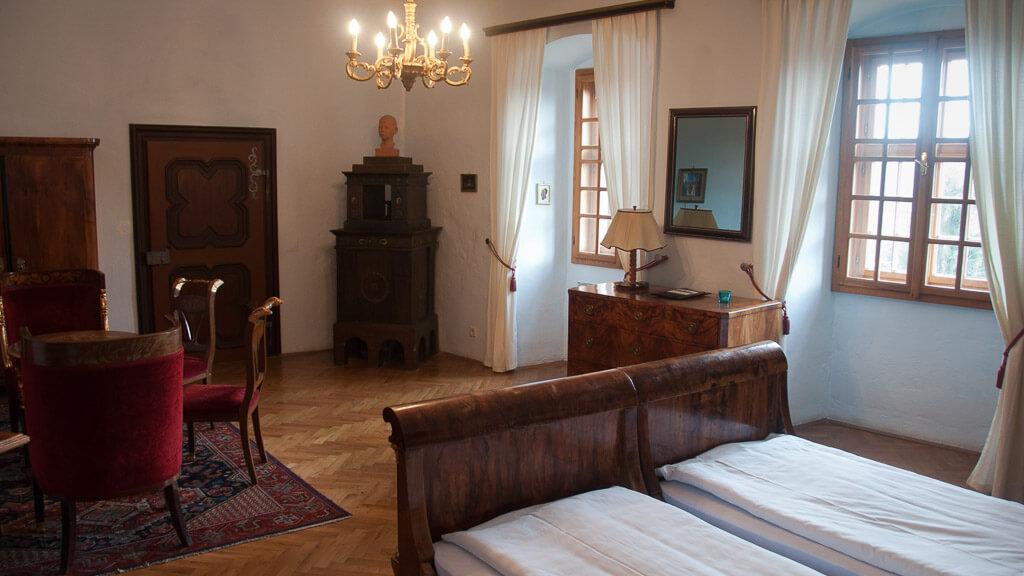 """Burgzimmer """"Paul Anton"""" auf der Burg Lockenhaus"""