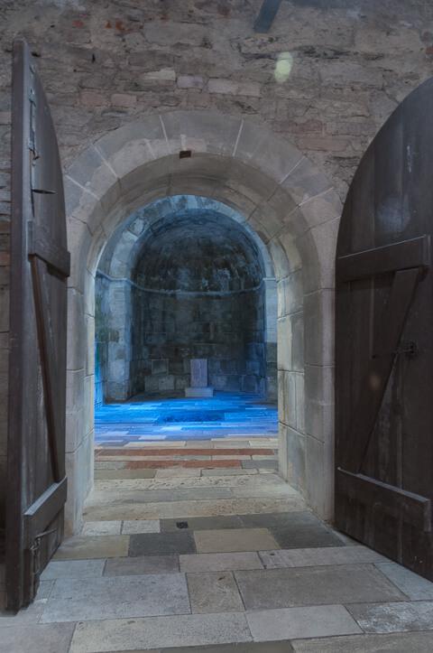 Kultraum in der Burg Lockenhaus