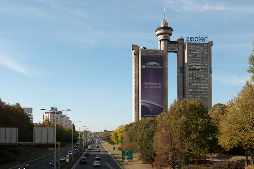 Bild: Genex Turm in Novi Beograd