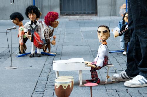 Bild: Puppenspieler in der Knez Mihailova in Belgrad