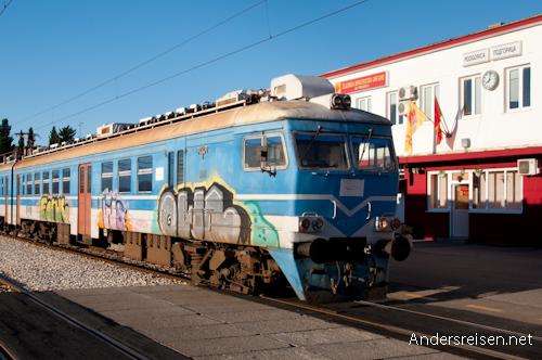 Bild: Bahnhof Podgorica - Montenegro