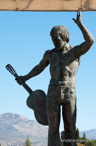 Bild: Statue von Wladimir Semjonowitsch Wyssozki in Podgorica