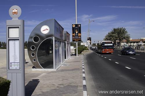 Bild: Klimatisierte Bushaltestelle in Dubai