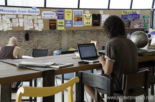 Bild: Kostenloses W-LAN gehört im Hostel zum Standard