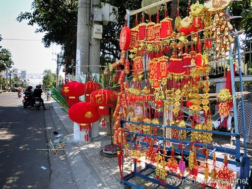 """Bild: Die Farbe """"rot"""" bringt zum Tet-Fest garantiert Glück"""