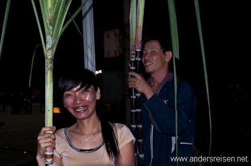 Bild: Zuckerrohr zum Tet-Fest