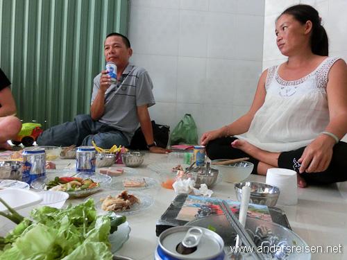 Bild: Ein üppiges Mahl gehört zum Tet-Fest dazu