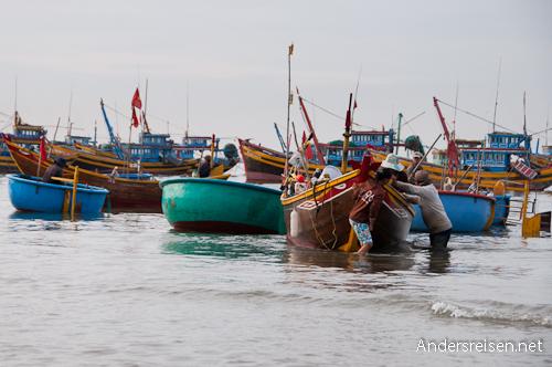 Bild: Fischerboote in Mui Ne - Vietnam