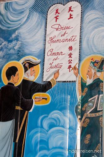 Bild: Bericht der drei Heiligen: Sun Yat Sen, Victor Hugo und Trang Trin