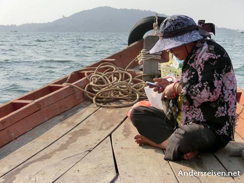 Bild: Boot nach Rabbit Island in Kambodscha