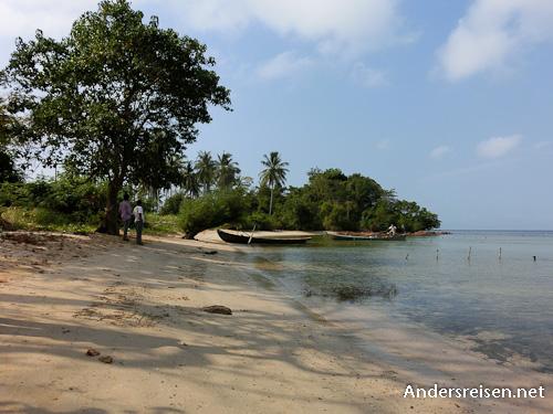 Bild: Versteckter Strandabschnitt auf Rabbit Island