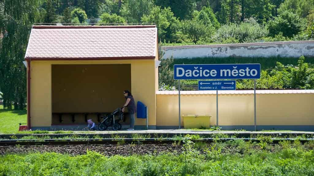 Zughaltestelle Dacice Mesto Tschechien