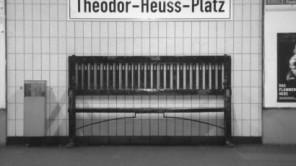 Die Sitzbank am Theodor-Heuss-Platz