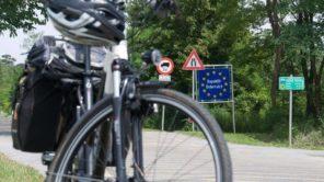 Die Fahrradtour führt über den Grenzübergang St. Margarethen von Österreich nach Ungarn