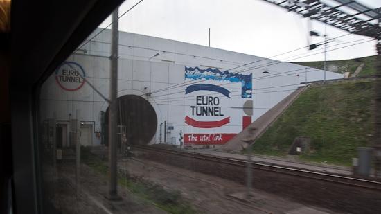 Bild: Eurotunnel-Portal bei Calais - Frankreic