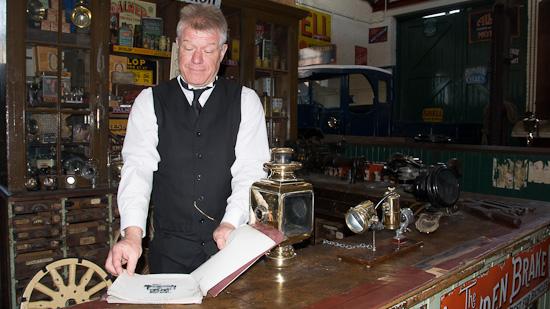 Bild: Garage im Beamish Museum