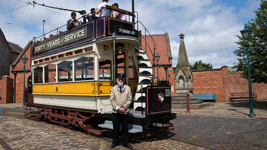Bild: Ex Straßenbahn Newcastle Nr. 114 im Beamish Museum