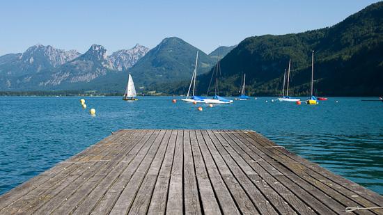 Bild: Wolfgangsee mit Ufer in St. Gilgen