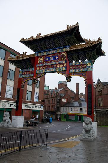 Bild: Tor im Chinatown Newcastle