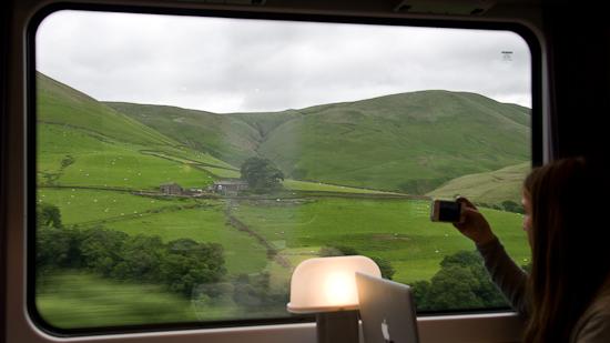Bild: Ausblick Zug Nordengland