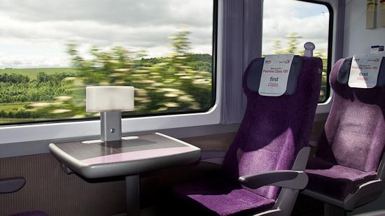 Bild: 1. Klasse Sitzplatz im First Transpennine Express