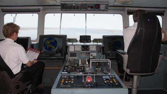 Bild: Brücke der DFDS King Seaways