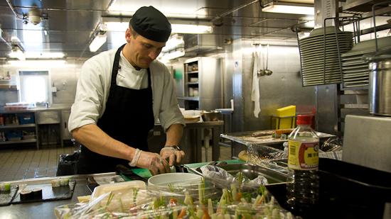 Bild: Küche auf der DFDS King Seaways