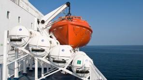 Bild: Rettungsboot auf der DFDS King Seaways