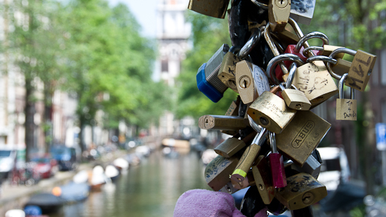 Bild: Love Locks in Amsterdam