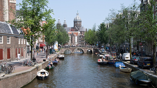 Bild: Gracht in Amsterdam