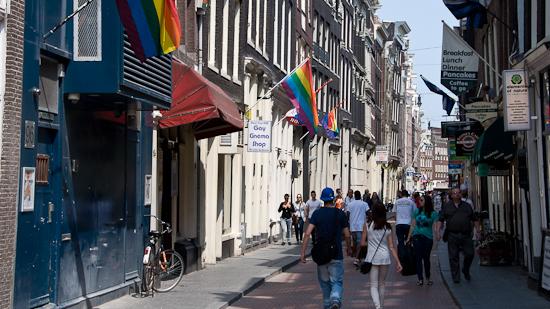 Bild: Schwulenviertel Amsterdam