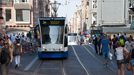 Bild: Straßenbahn in Amsterdam