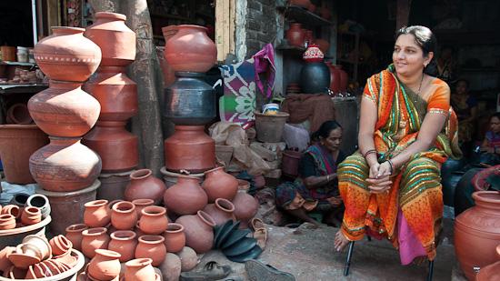 Bild: Töpferei in Dhavari