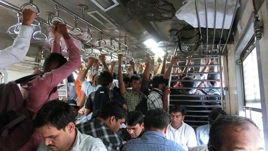 Bild: Voller Vorertezug in Mumbai