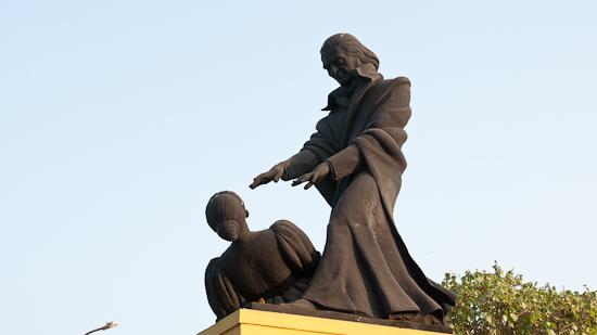 Bild: Abbé Faria Statue in Panjim in Goa