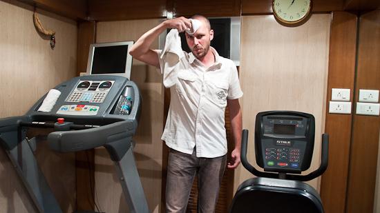 Bild: Fitnesscenter im Golden Chariot Luxuszug