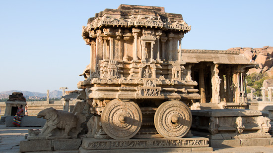 Bild: Der Golden Chariot in Hampi