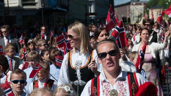 Bild: Parade in Oslo am Verfassungstag