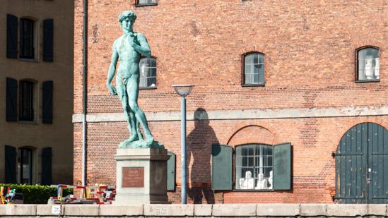 Bild: David-Bronzestatue von Michelangelo in Kopenhagen