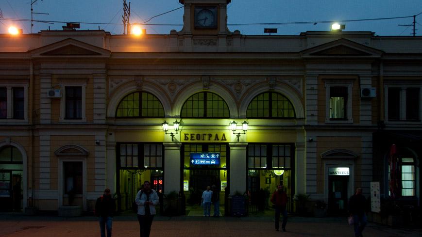 Bild: Belgrad Hauptbahnhof am frühen Morgen