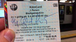 Bild: KölnCard mit Uhrzeitfehler