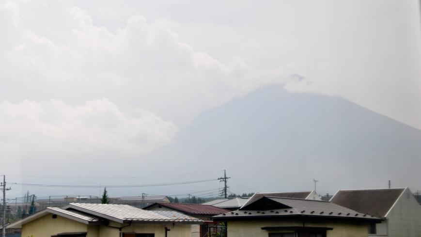 Bild: Fuji San vom Zugfenster