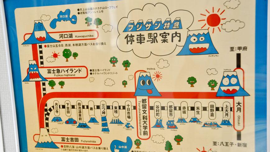 Bild: Linienplan der Fujikyuko-Line